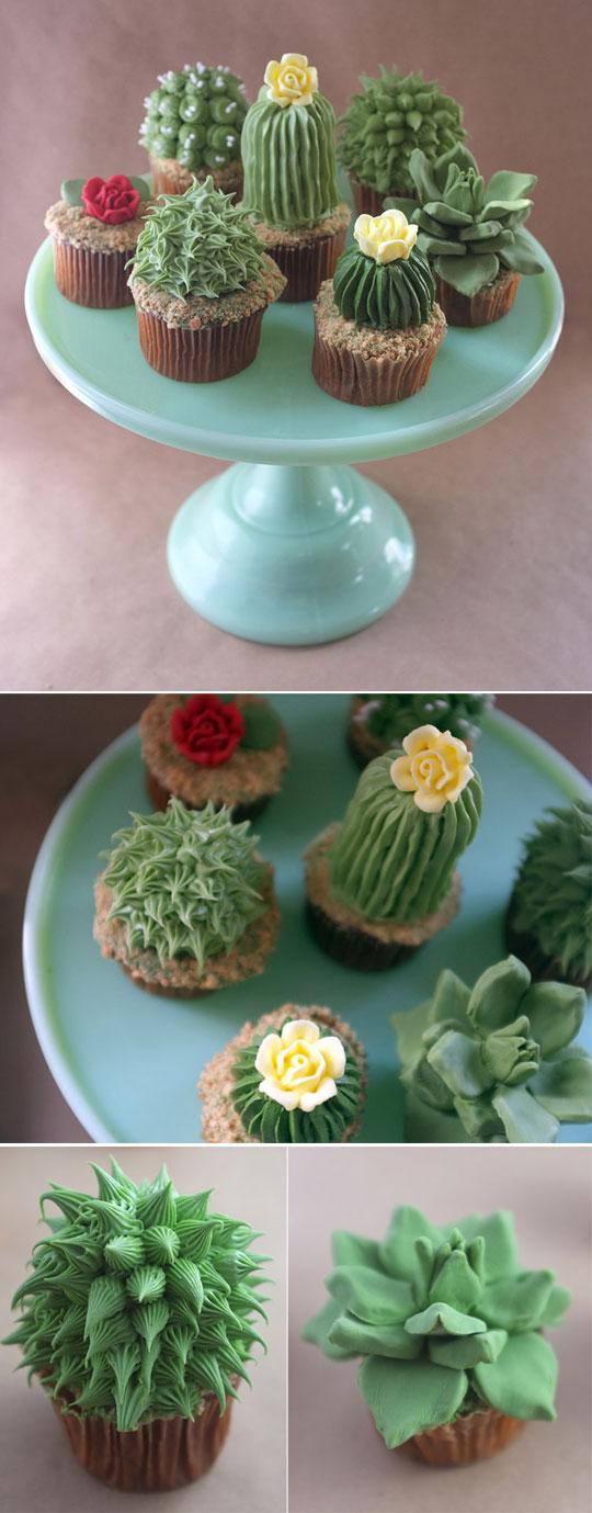 cool-cupcake-decoration-cactus-flower