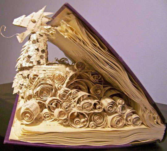 cool-dragon-book-carving-paper