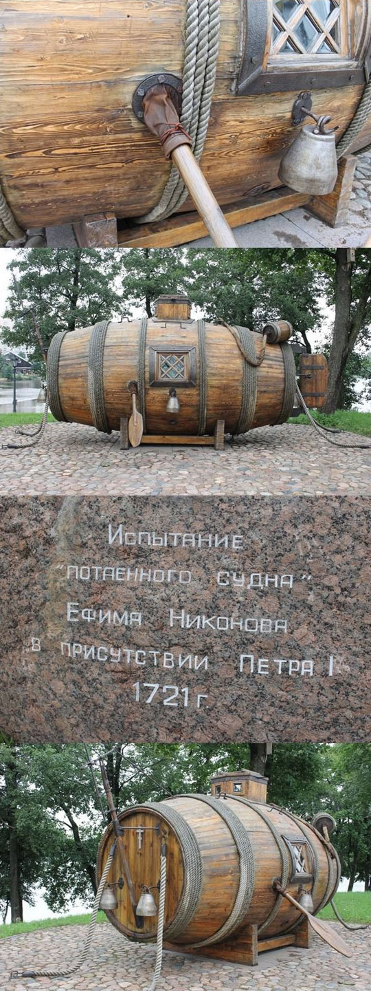 cool-first-Russian-submarine-history-wood-barrel