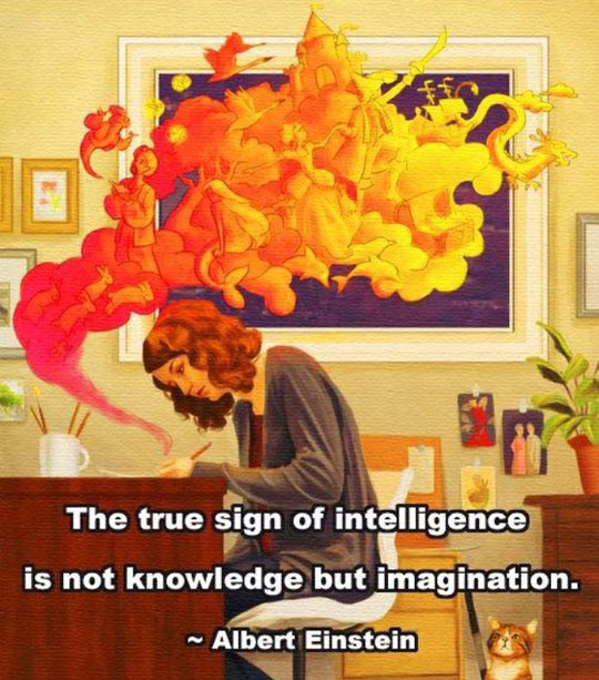 The real sign of intelligence…