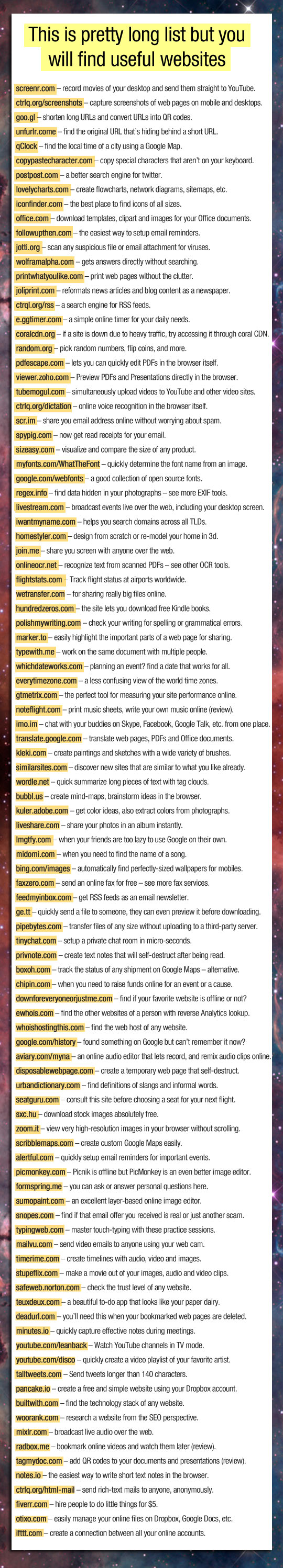 Take a Sec To Check This Amazing List