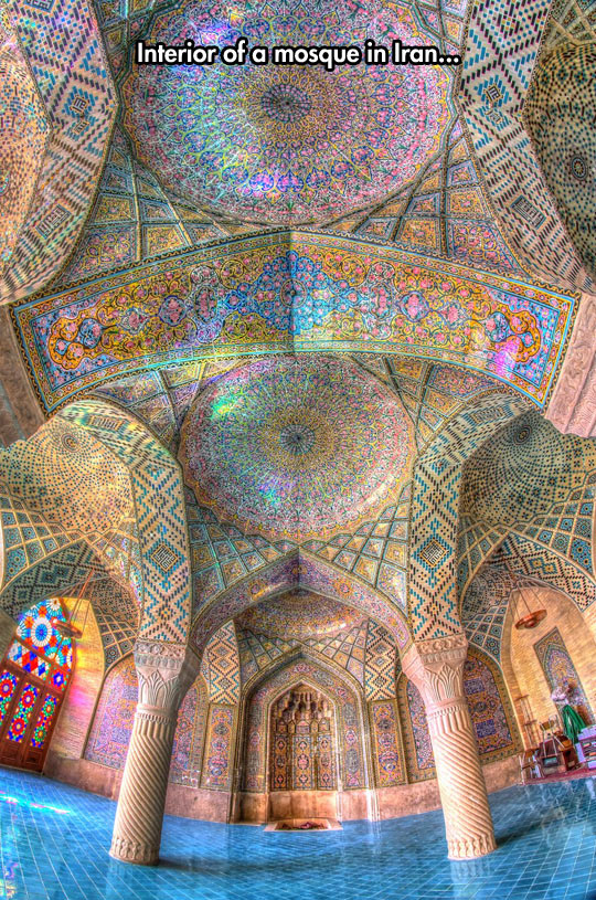Nasir Al-Mulk Mosque in Shiraz, Iran…