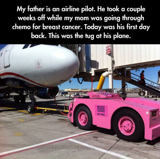 cool-pink-tug-truck-cancer-pilot-airport