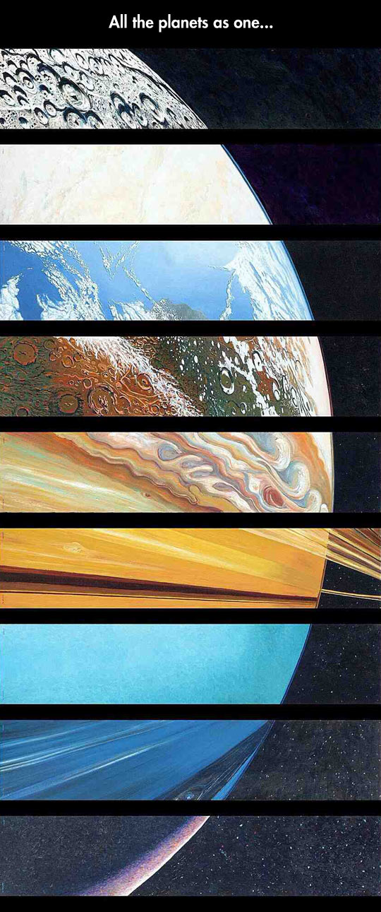All the planets in one picture…