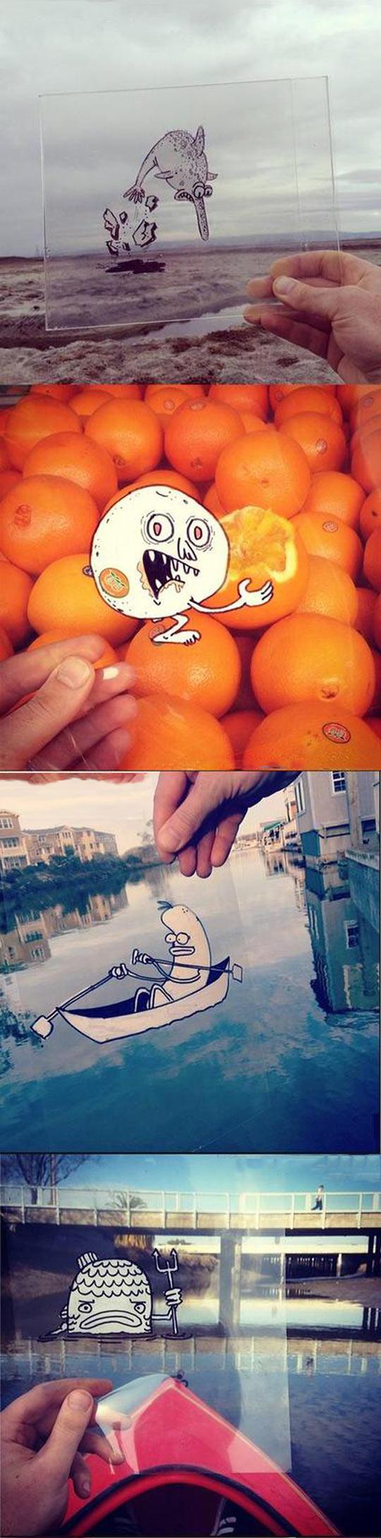 Cartoon Doodles in real life...