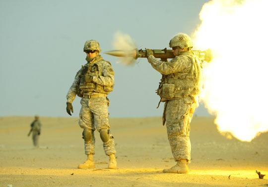 Soldier firing an AT-4…