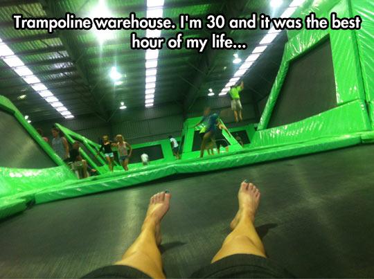 Trampoline warehouse…