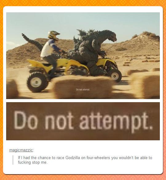 If I Had a Chance To Race Godzilla…
