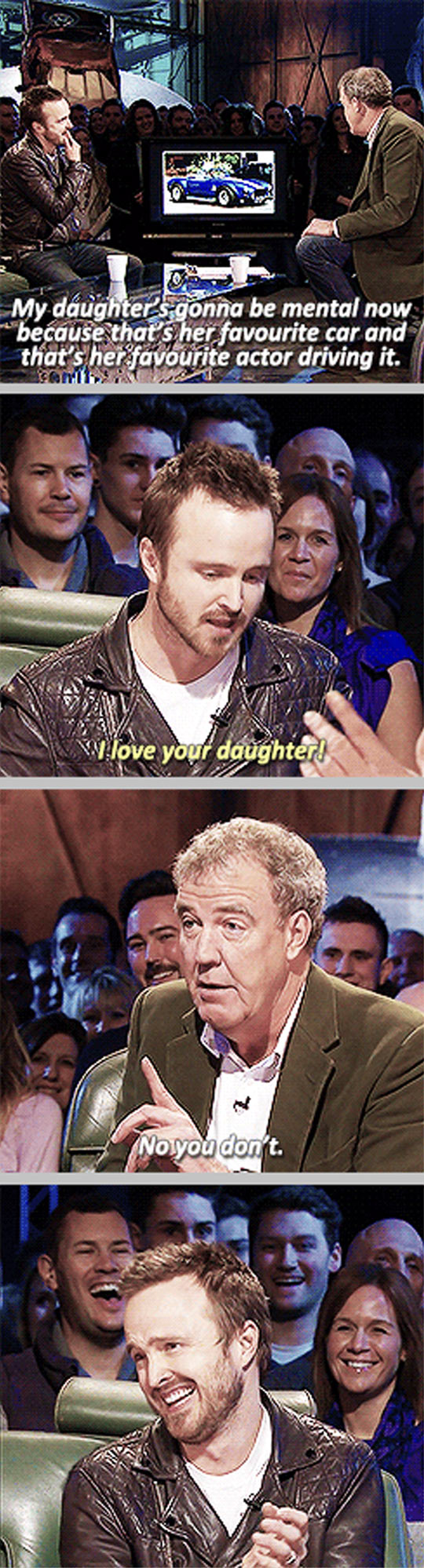 funny-Aaron-Paul-Top-Gear-car-daughter