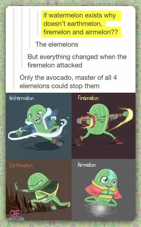 The 4 Elemelons