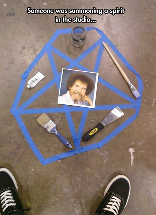 That's a happy little pentagram…