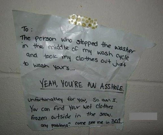 College Laundromat Justice…