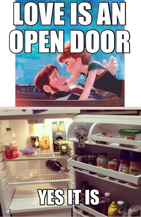 funny-Disney-Frozen-love-open-door