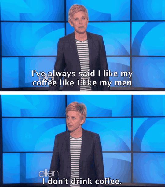 Ellen Really Knows How To Espresso Herself