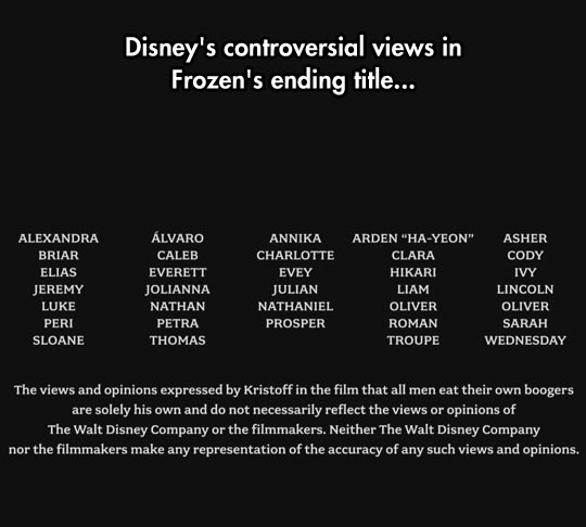 Disney Clearing Things Up
