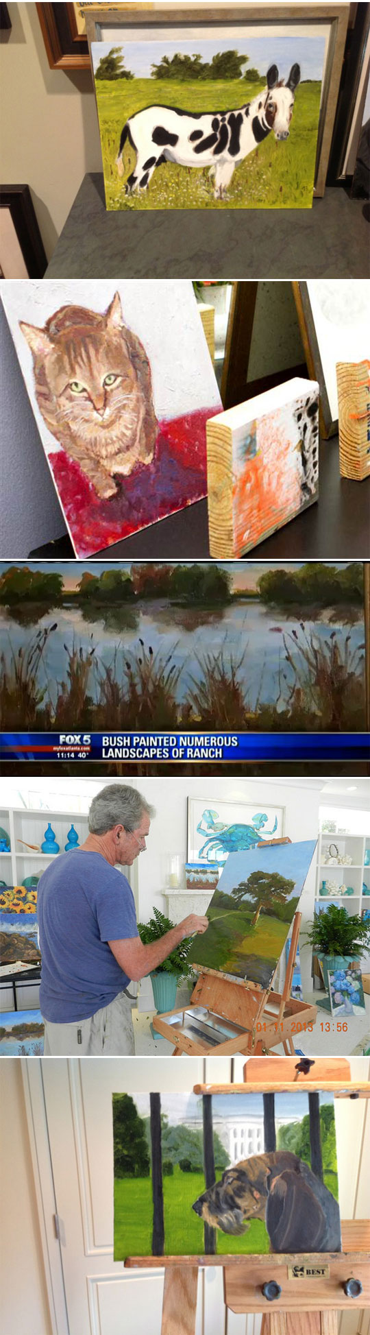 funny-George-Bush-painting-artist-canvas