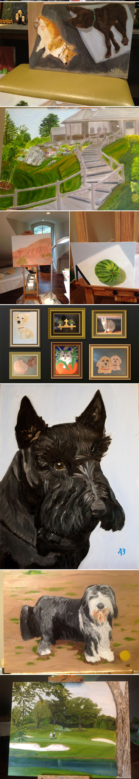 funny-George-Bush-painting-artist-dog
