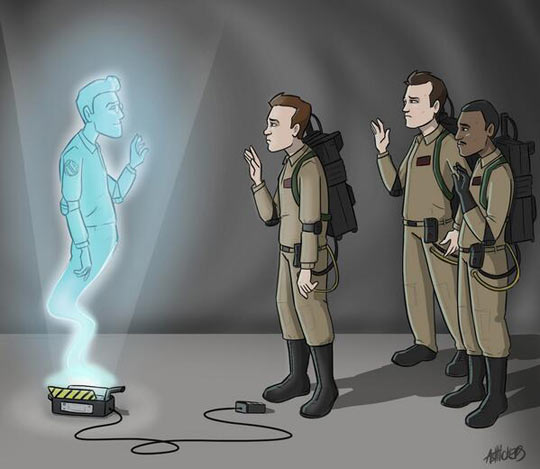 funny-Ghostbusters-Harold-Ramis-cartoon