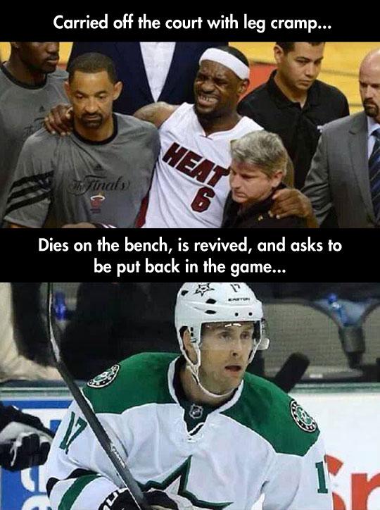 funny-LeBron-James-sports-injury-hockey-player