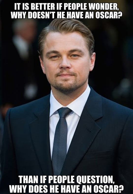Leonardo DiCaprio still wins…