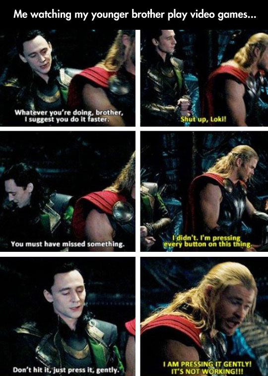 funny-Loki-Thor-brothers-button-gently