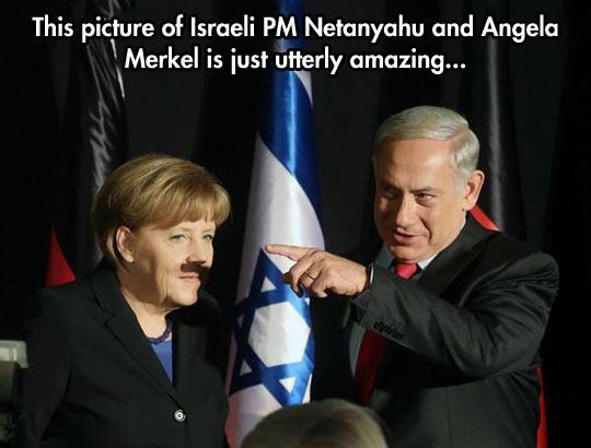 funny-Merkel-mustache-Israel-shadow