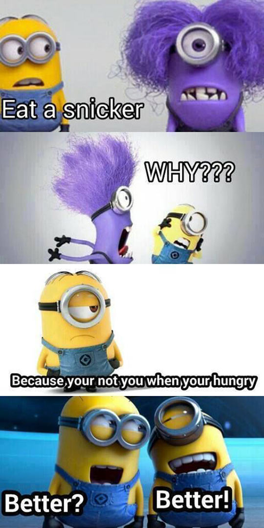 Everyone Turns Into a Minion When They're Hungry