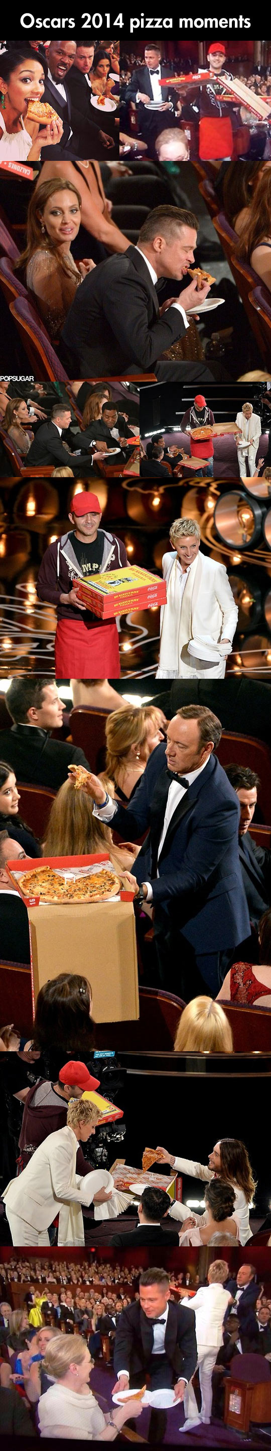 Pizza party at the Oscars…