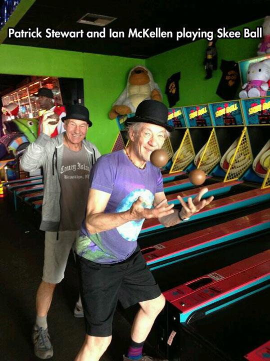 Prof. Xavier and Magneto Enjoying Their Free Time