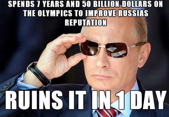 Just Putin diplomacy aside…