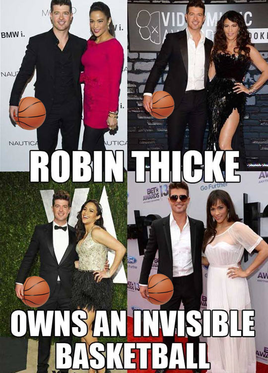 There's a reason Robin Thicke has his arms like a Ken doll…