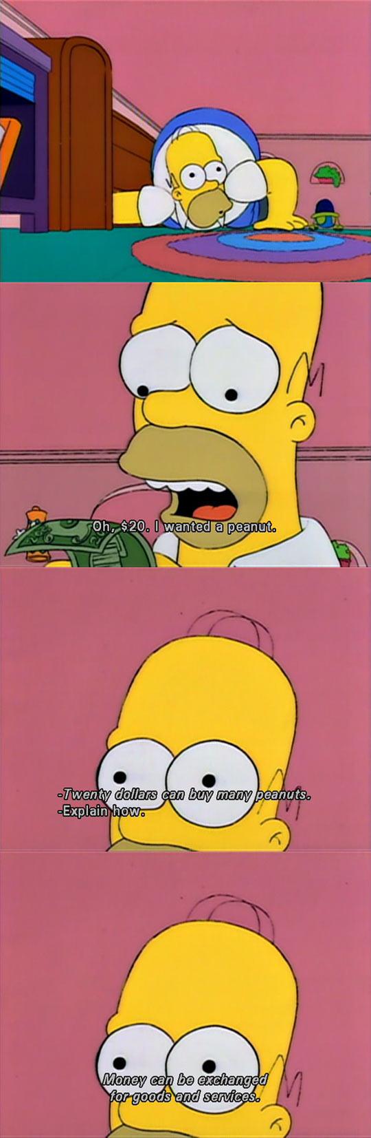 funny-Simpsons-Homer-dollar-peanuts