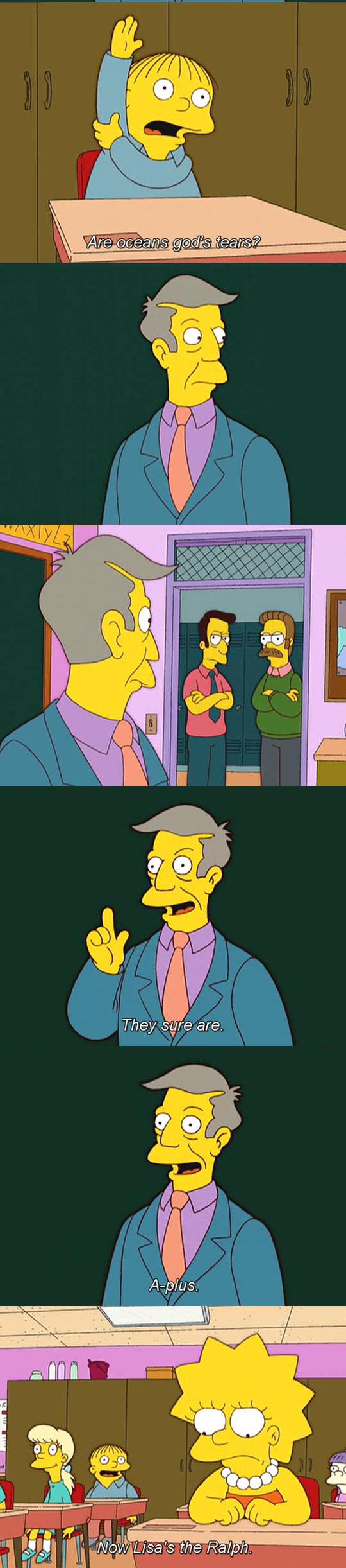 funny-Simpsons-creationism-Ralph-Lisa