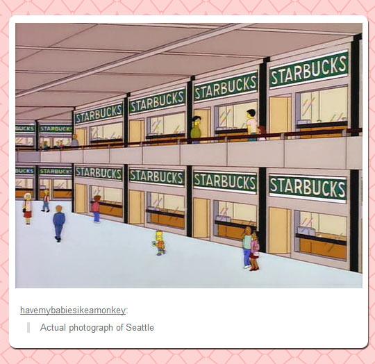 An actual photograph of Seatle…