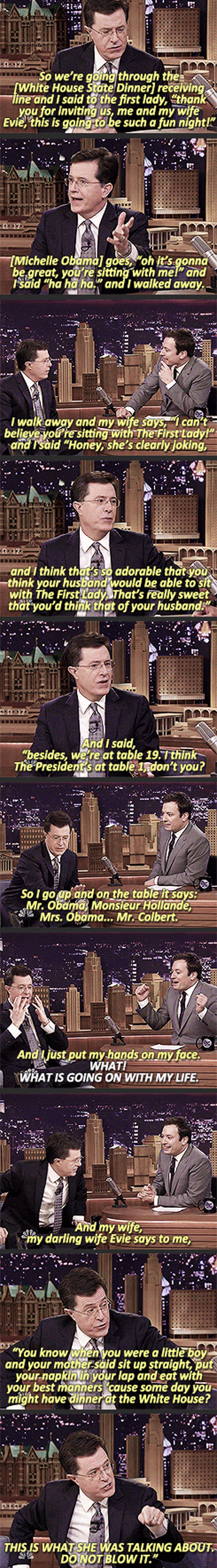 Stephen Colbert And The First Lady