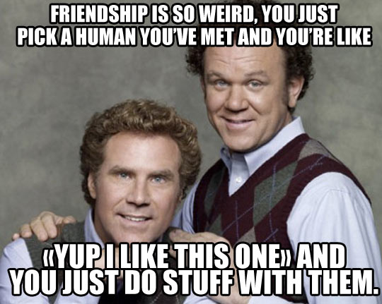 Friendship Is Pretty Weird