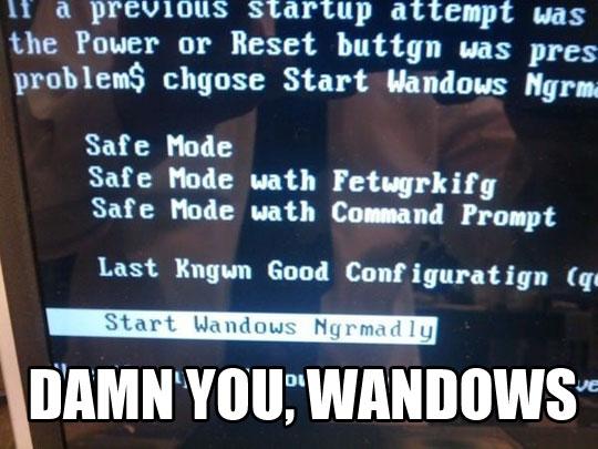 Go Home, Windows, You're Drunk