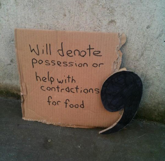 Homeless apostrophe…