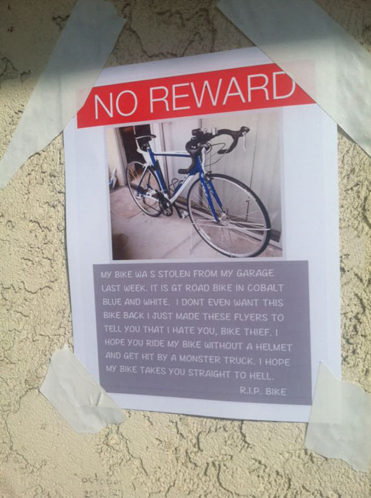 A guy posted these all over the city…