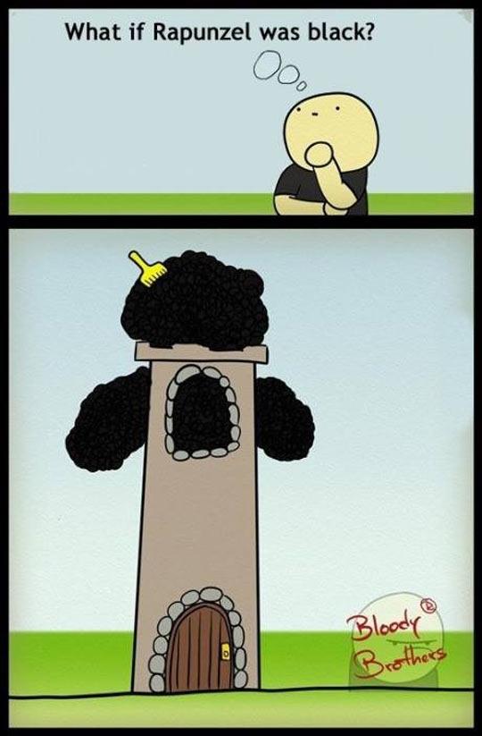 funny-black-Rapunzel-tower-hair