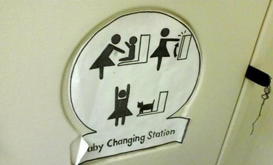Baby Changing Station With a Surprise