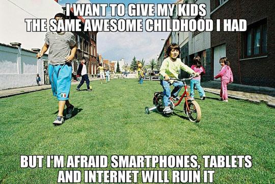 funny-childhood-smartphones-technology-bikes