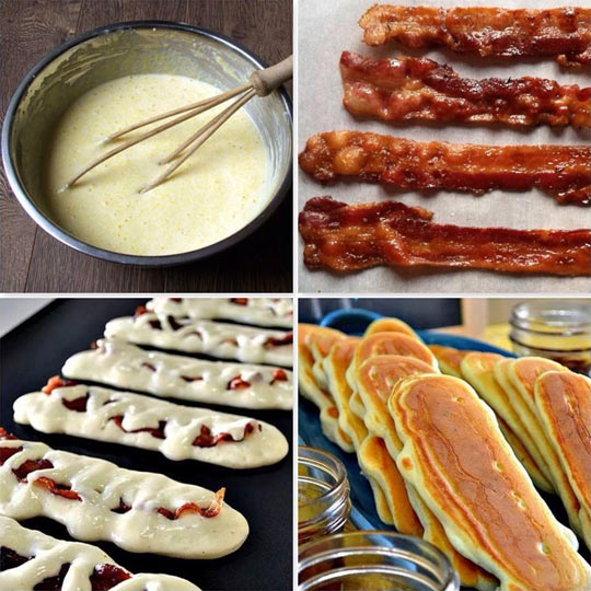 Learn to make baconcakes…