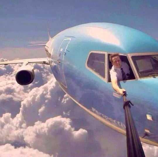 Yet another contestant for selfie of the year…