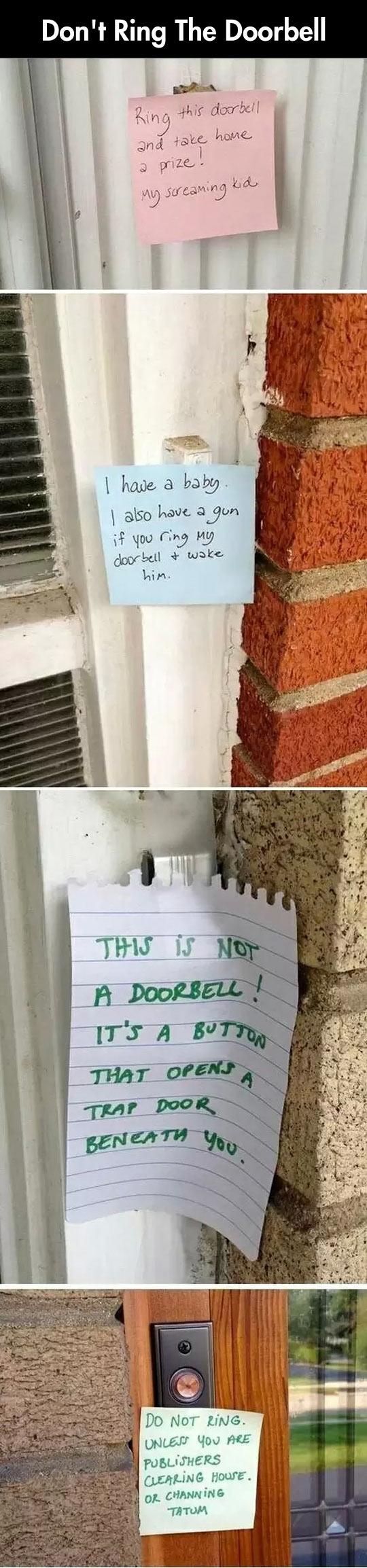 funny-doorbell-notes-threats-prank