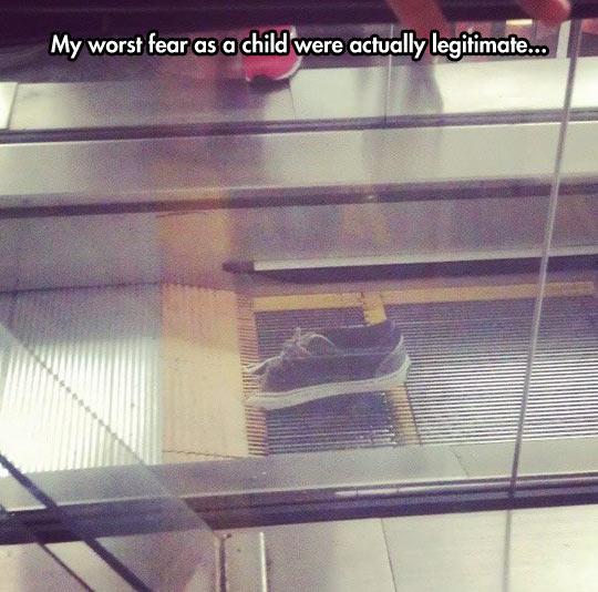 Escalator fear is not imaginary…