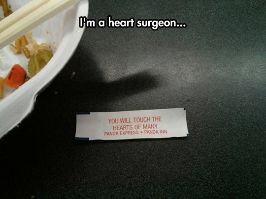 The wisdom of fortune cookies…