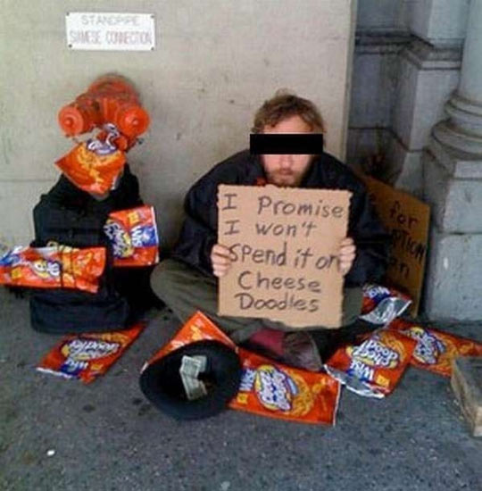 funny-homeless-sign-Cheese-Doodles