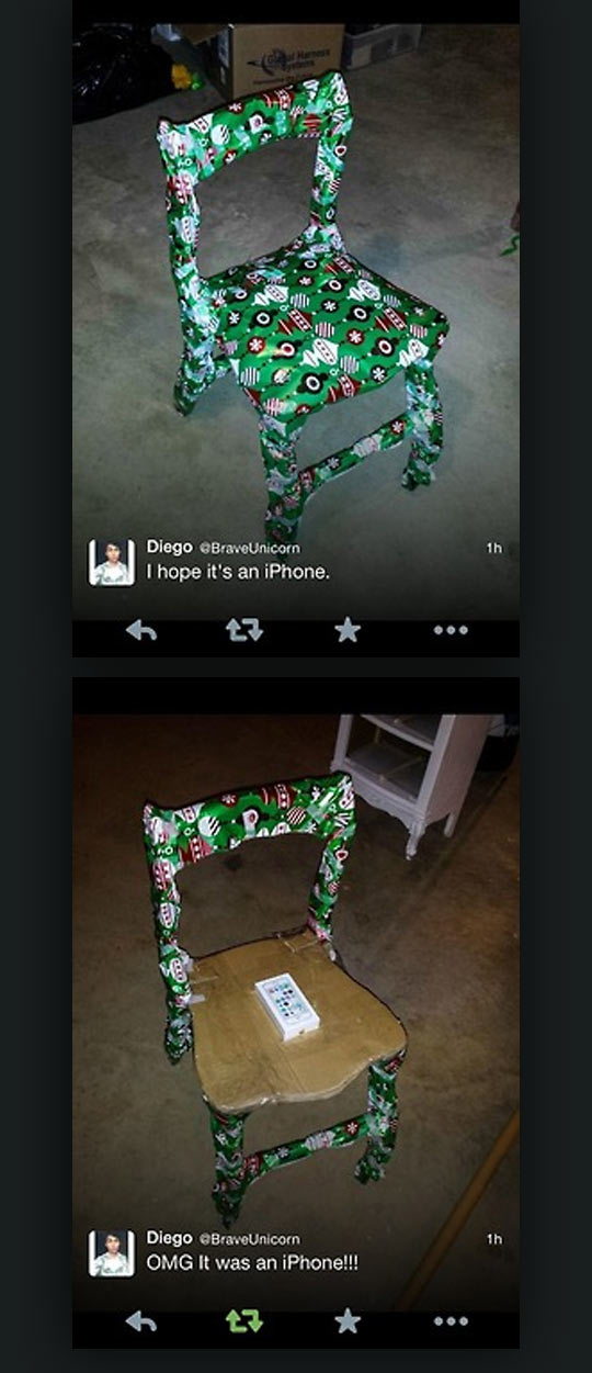 funny-iPhone-gift-chair-wrapped