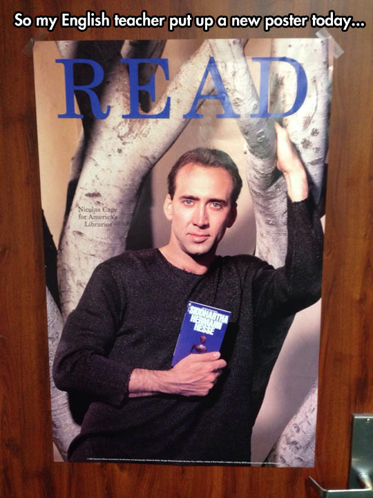 funny-library-Nicolas-Cage-Siddhartha-book